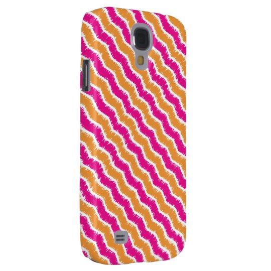 Retro Hot Pink & Orange Zig Zag Phone Case