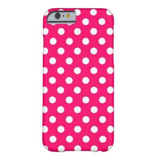 Retro Hot Pink Polka Dots iPhone 6 case