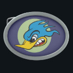"Retro Hot Rod Oval Belt Buckle<br><div class=""desc"">Retro Angry Bird Belt Buckle</div>"