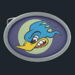 "Retro Hot Rod Oval Belt Buckle<br><div class=""desc"">Retro Angry Bird Belt Buckle</div>"