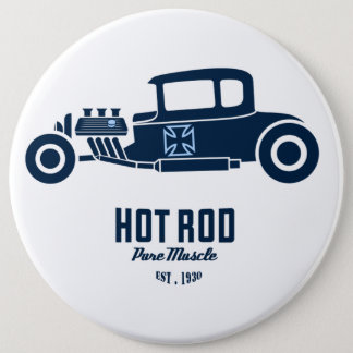 Retro Hot Rod Pure Muscle Round Buttons