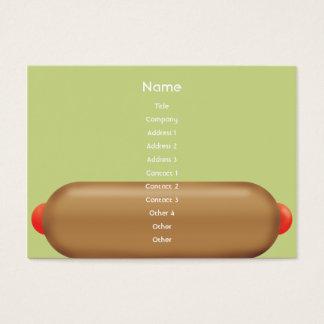 Retro Hotdog - Chubby Business Card