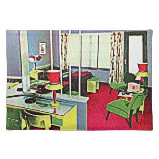 Retro Hotel Room Cloth Place Mat