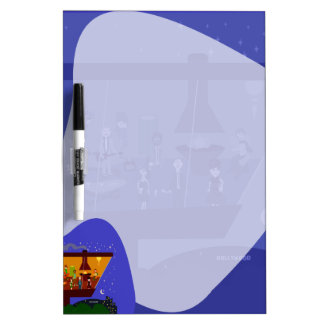 Retro House Party in the Sky Dry Erase Board