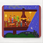 Retro House Party Mouse Pad