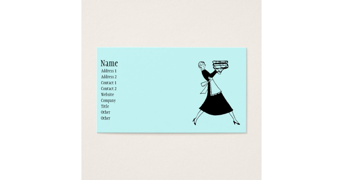 Retro Housekeeper Business Card | Zazzle.com