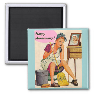 Retro Housewife Anniversary Magnet