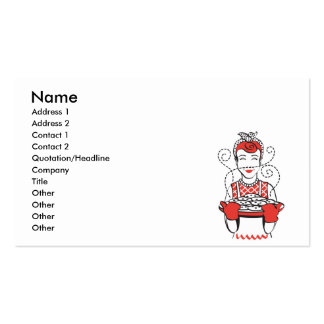retro housewife baker business card