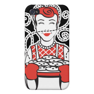 retro housewife baker cover for iPhone 4