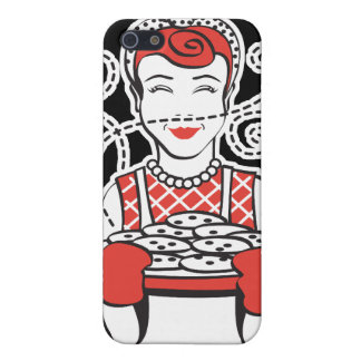 retro housewife baker iPhone SE/5/5s case