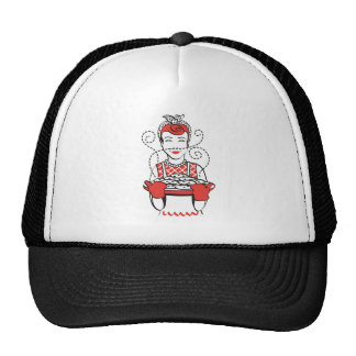 retro housewife baker trucker hat