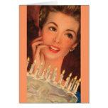 Retro Housewife Birthday Greeting Card