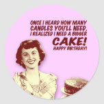 Retro Housewife Birthday Stickers