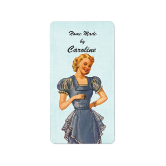 Retro Housewife Brings You Goodies Label