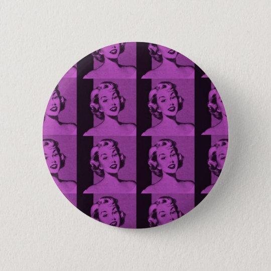 Retro Housewife Button
