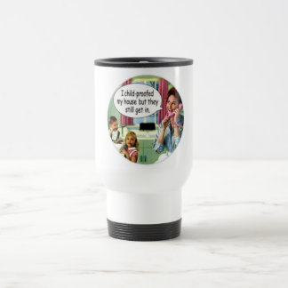 "RETRO HOUSEWIFE ""CHILDPROOFED THE HOUSE"" MUG"