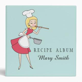 Retro Housewife Custom Recipe Binder Album