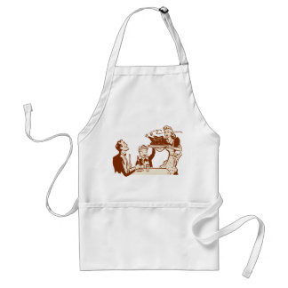 Retro Housewife & Family Adult Apron
