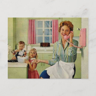 Retro Housewife & Family Postcards
