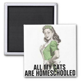 Retro Housewife, Funny Cat Magnets