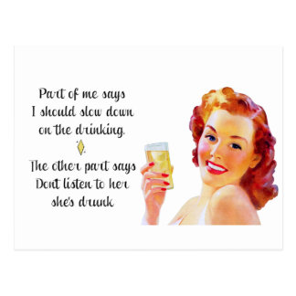 Retro Housewife Funny Quote Postcard