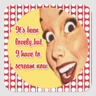 Retro Housewife I HAVE TO SCREAM Stickers