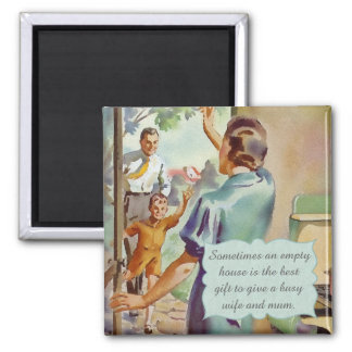 Retro Housewife Magnet