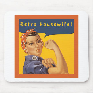 Retro Housewife! Mouse Pad
