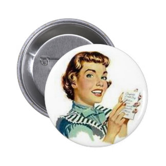 Retro Housewife Pinback Button