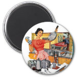 Retro Housewife Refrigerator Magnets