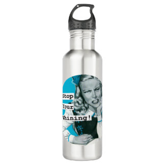 Retro Housewife STOP WHINING Stainless Steel Water Bottle
