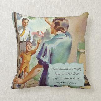 Retro Housewife Throw Pillow