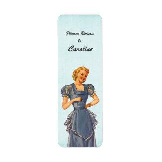Retro Housewife Wants Her Stuff Back Custom Label