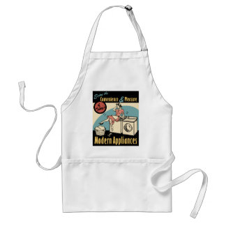 Retro Housewife Washer Dryer Adult Apron