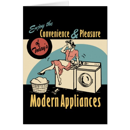 Retro Housewife Washer Dryer Card
