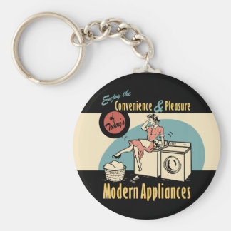 Retro Housewife Washer Dryer Key Chain