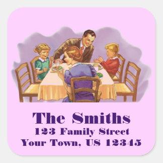 Retro Housewives Square Sticker