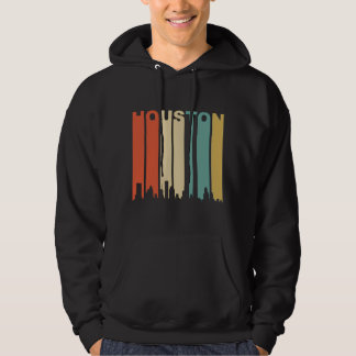 Retro Houston Skyline Hoodie