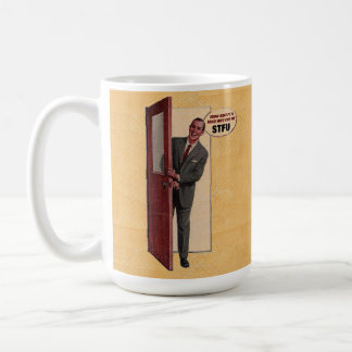 Retro How About A Nice Hot Cup Of STFU Mug 15oz