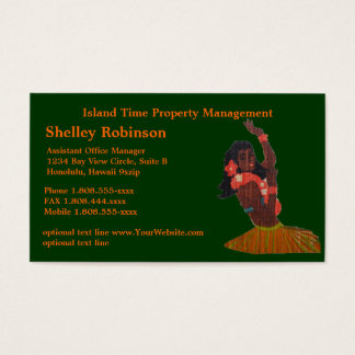 Retro Hula Girl Business Card
