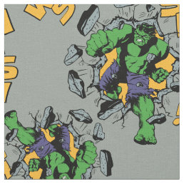 Retro Hulk Smash! Fabric