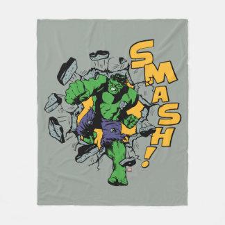 Retro Hulk Smash! Fleece Blanket