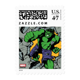 Retro Hulk Smash! Postage