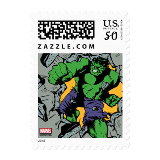 Retro Hulk Smash! Postage
