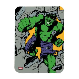 Retro Hulk Smash! Rectangular Photo Magnet