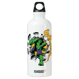Retro Hulk Smash! Water Bottle