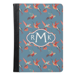 Retro Hummingbird Pattern | Monogram iPad Air Case