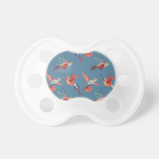 Retro Hummingbird Pattern Pacifier