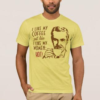 Retro I like my coffee HOT T-Shirt