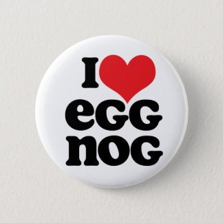 Retro I Love Egg Nog Button